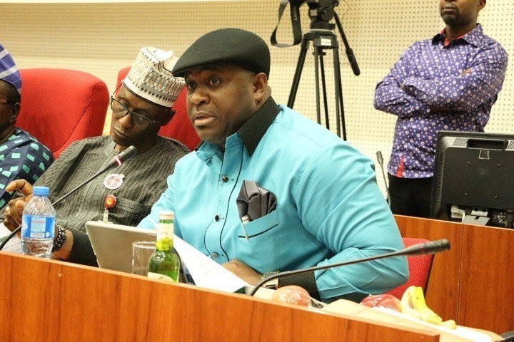 Photos: Nigerian senator doses off during Senate hearing on fuel scarcity