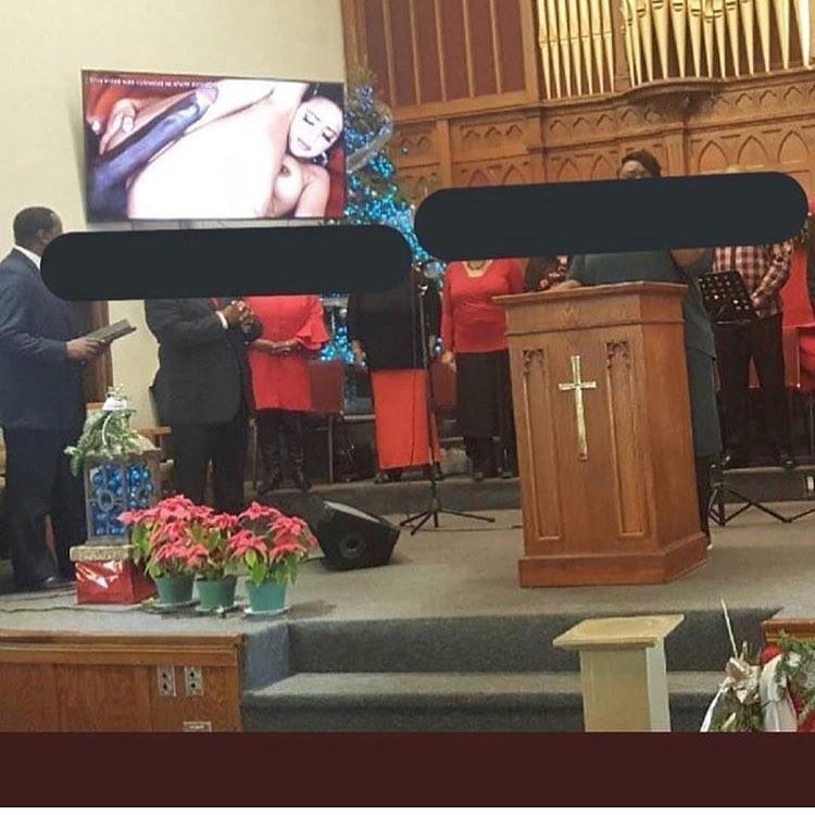 My goodness! Deacon accidentally Chrome Cast p*rn on the church