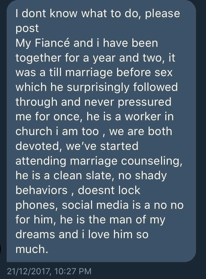 Traumatized bride-to-be seeks advise after discovering her fiance with whom she has started marriage counseling classes with is HIV+ which he hid from her