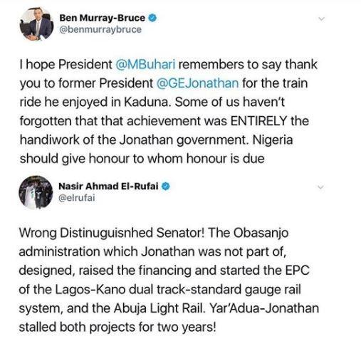 Between Governor El Rufai, Senator Ben Bruce and President Buhari