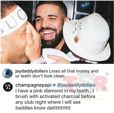 Between rapper Drake and a non-fan who said