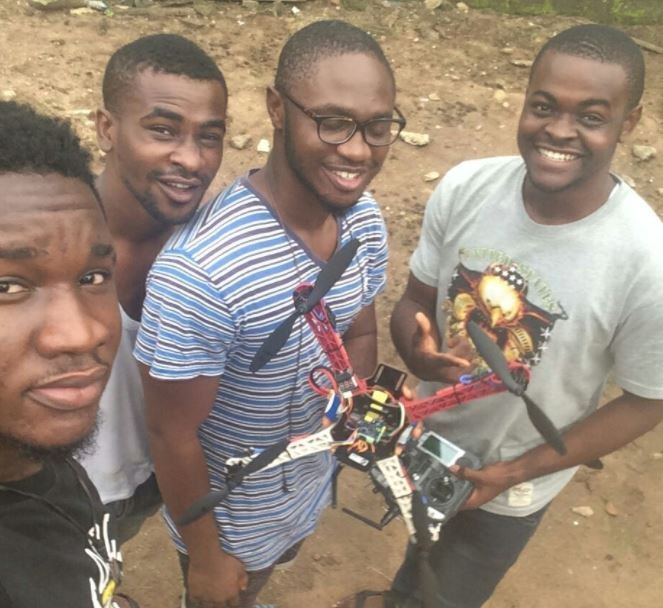 Photos:?Four final year students design a?campus surveillance drone in Imo State