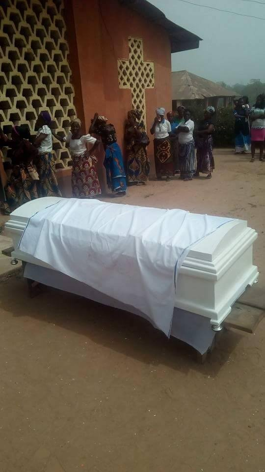 Photos from the burial of?final year student?due to graduate in 8 months that was allegedly murdered by Fulani herdsmen