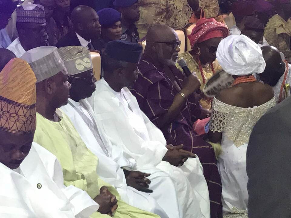 First photos from the traditional wedding of Ondo state governor, Rotimi Akeredolu