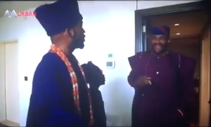 Watch the hilarious moment BankyW first saw Ebuka