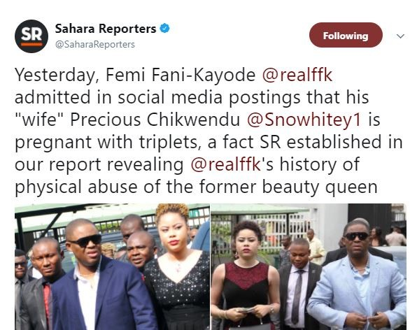 Sahara Reporters still coming for FFK...