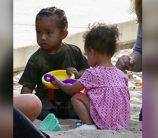 Kim Kardashian?s son Saint West & Chrissy Teigen?s daughter Luna met up to have a play date! (photos)