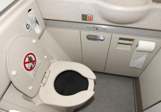 Police detain woman after a new-born baby waa found dead In the toilet of an Aeroplane