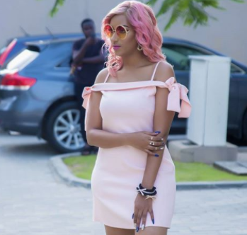 Actress, Juliet Ibrahim, looks hot in her head-to-toe all pink ensemble (photo)