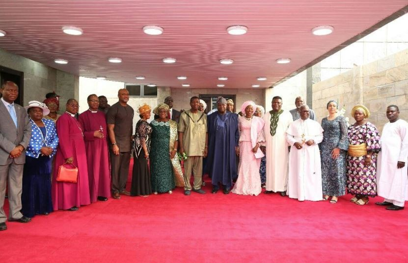 Photos: Pastor Adeboye and wife attend annual Thanksgiving service with Governor Ambode at the state house