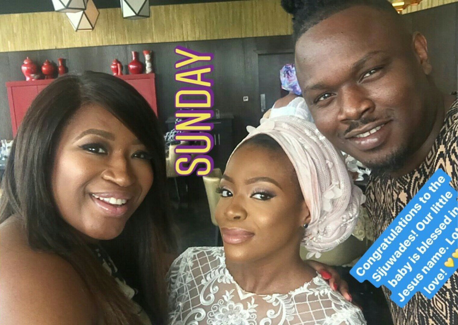 Dr. Sid & Simi Esiri all smiles as they celebrate with Dolapo Sijuwade over dedication of her son (photos)