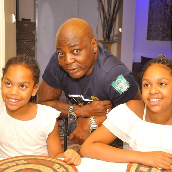 Dr Alban, his wife, and kids visit Charly Boy