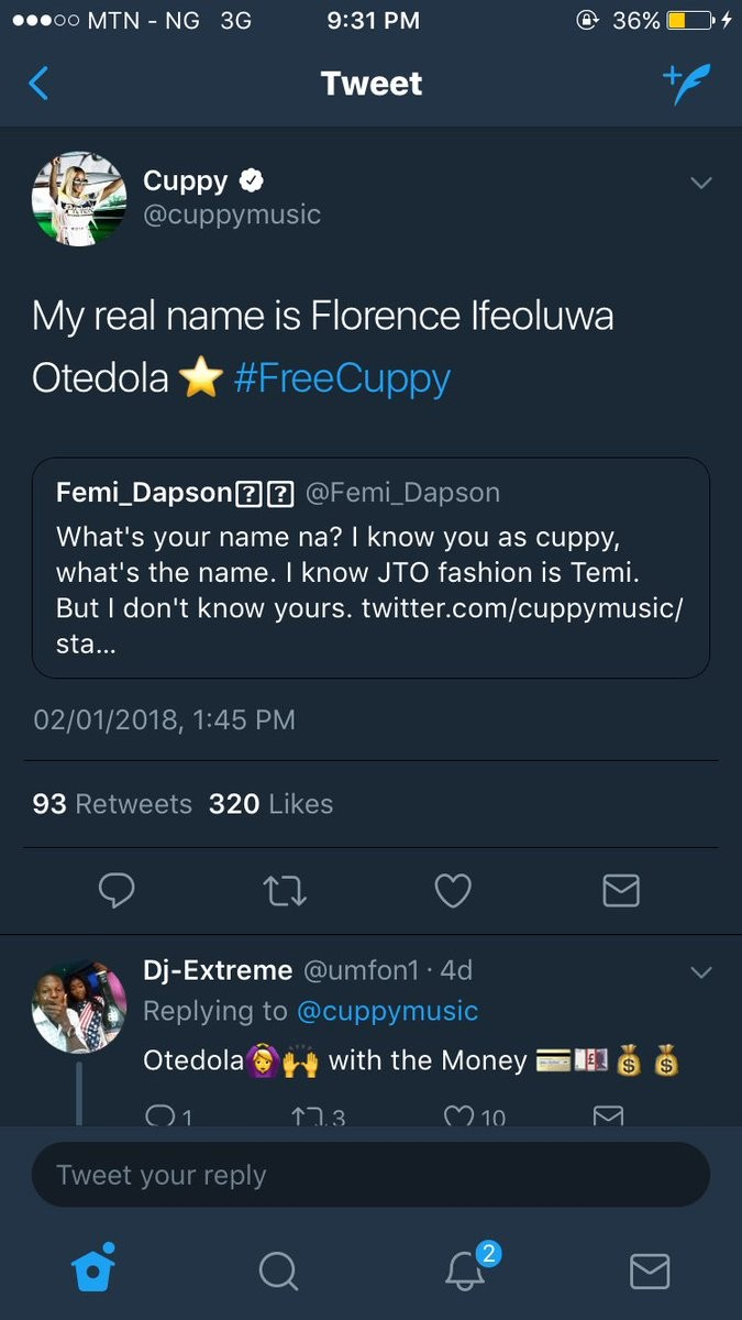Lol. See the hilarious replies Nigerians left on DJ Cuppy