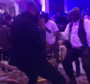 "Watch Dino Melaye show off his dance moves at his """"Pirates of the Carribean"" themed birthday party"