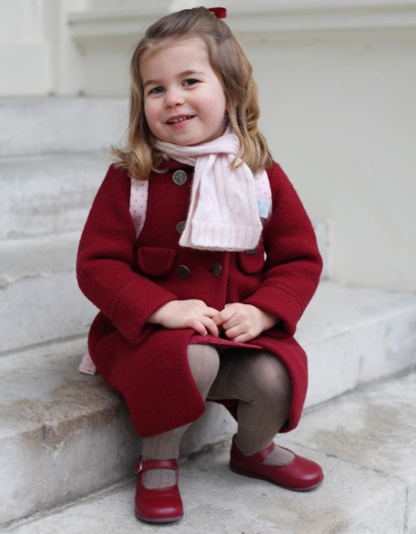 Kate Middleton Photographs Princess Charlotte For Her First Day At Nursery School