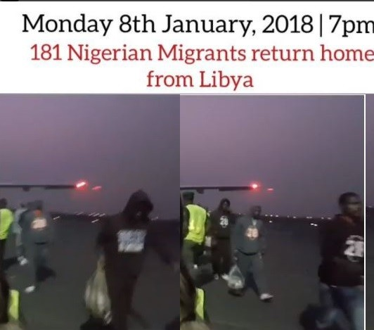 Video: Another set of 181 Nigerian ?migrants return ?from Libya amidst ongoing slave trade crisis
