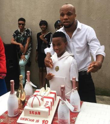 Actor Charles Okocha celebrates son