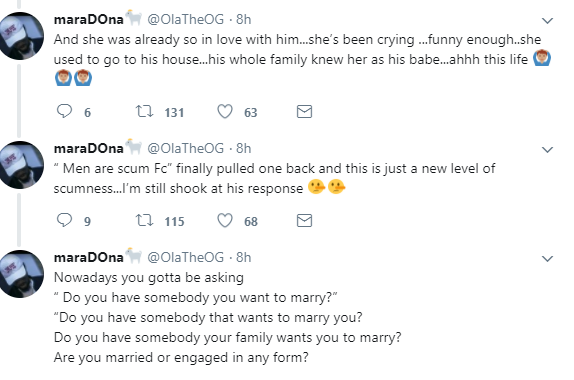 """""""She was my fianc?e already then..not a girlfriend"""" Man says to his girlfriend of 3 months after she found out he is getting married"""