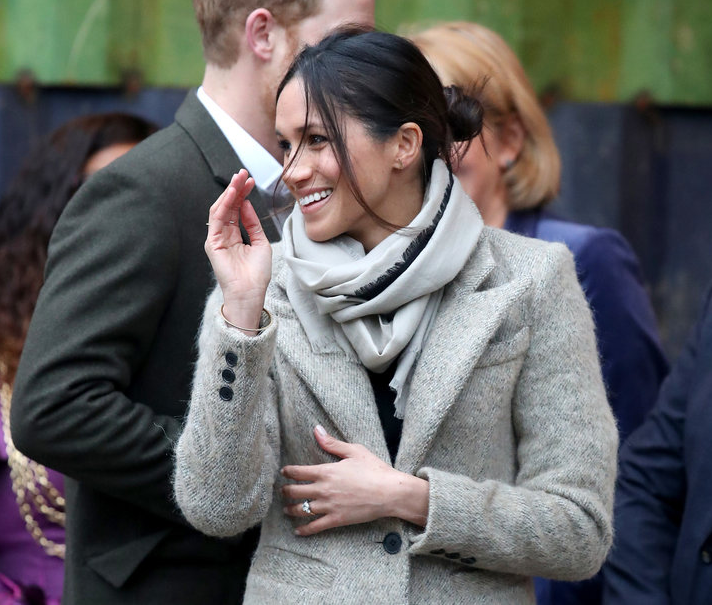 Meghan Markle and Prince Harry all smiles as they make first public appearance of 2018