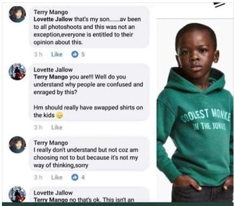 Mother of the little boy in the controversial H&M advert says everyone is entitled to their opinion about it