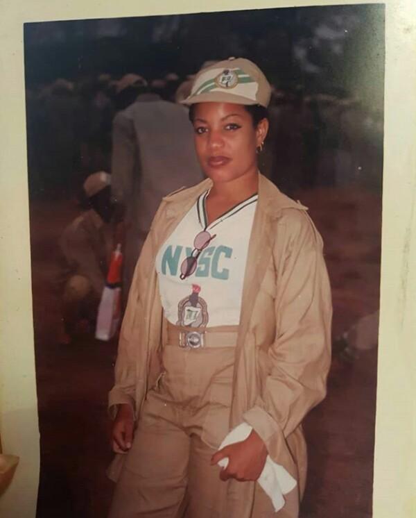 Throwback photo of actress Monalisa Chinda as a Corps member