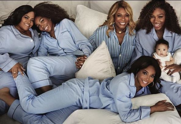 Serena Williams shares adorable photo with her mom, sisters and daughter