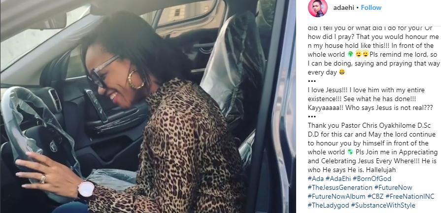 Pastor Chris Oyakhilome gifts gospel singer, Ada Ehi brand new 2017 SUV