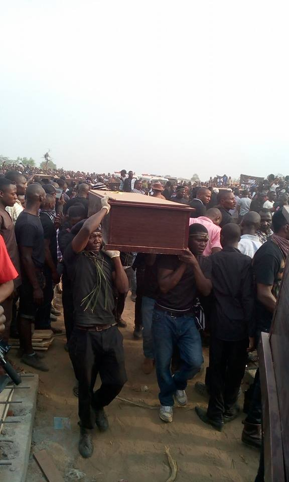 More photos from the mass burial for the 75 victims of the Fulani herdsmen attack