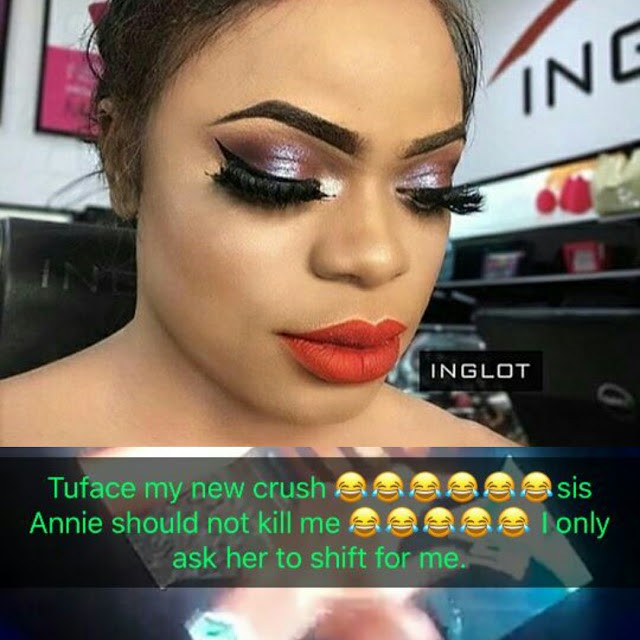 Nigerian Male Barbie ,  Bobrisky declares Tuface his new crush