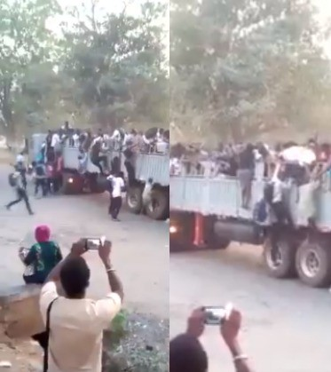 Video shows UNILORIN students hopping on a trailer as transportation becomes a problem due to the lingering fuel scarcity