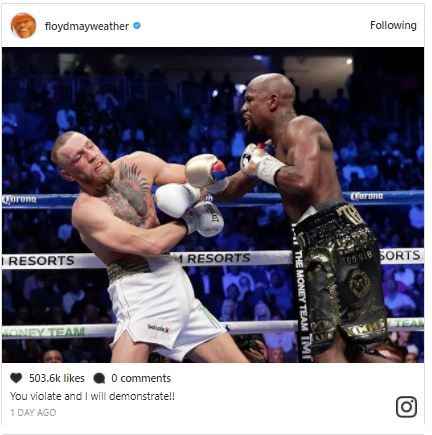 Lol...Floyd Mayweather and Conor McGregor drag each other on social media, share photos from their mega fight to mock each other (Photos)