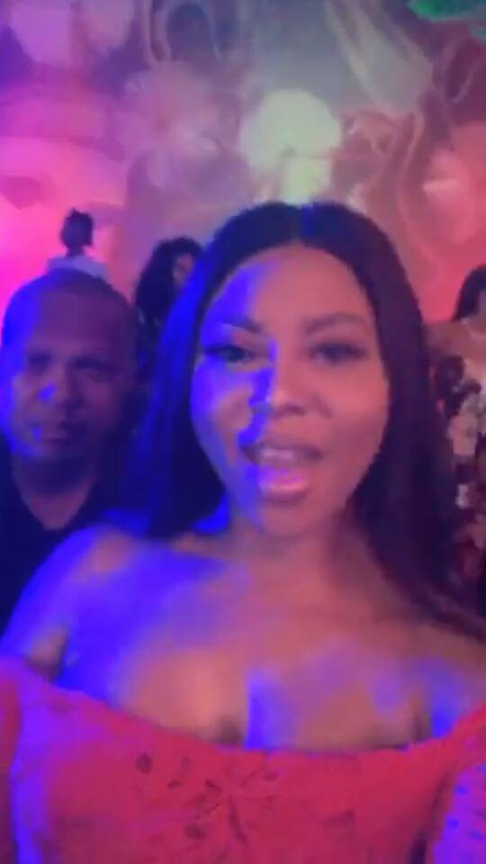 Media personality, Stephanie Coker and her hubby, David Aderinokun, attend a mask party in Lagos