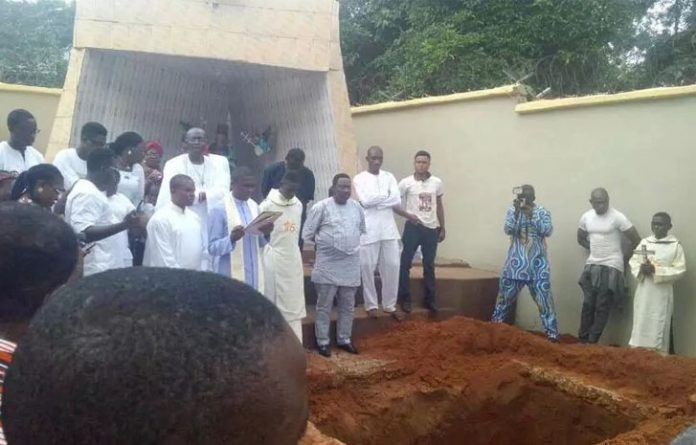 Photos: Father of the Ozubulu massacre target, Bishop, laid to rest