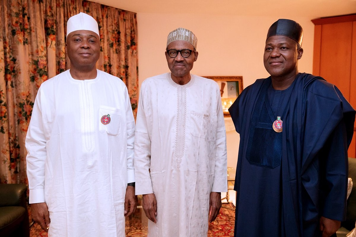 Photos: President Buhari meets with Saraki and Dogara over the security situation in Benue state