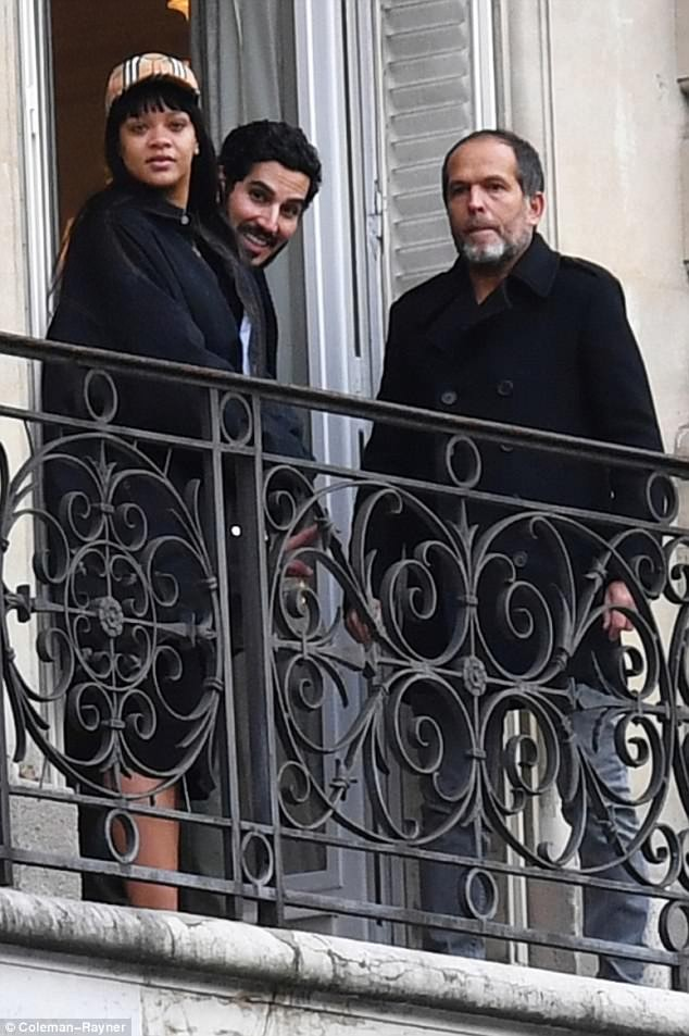 Make-up free Rihanna and her billionaire boyfriend Hassan Jameel enjoy romantic getaway to Paris