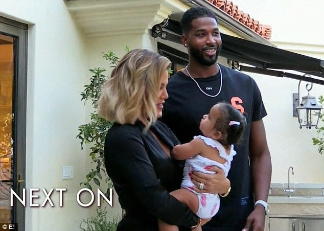 Pregnant Khloe K and Tristan Thompson gather family to reveal her pregnancy in preview clip of special KUWTK episode (Photos)