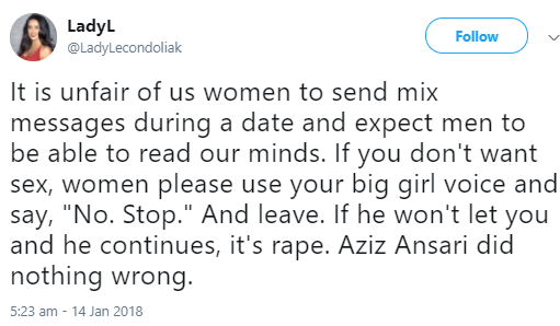 """This is not sexual assault. Aziz Ansari did nothing wrong"": Twitter users react to sexual assault allegations against Aziz Ansari"