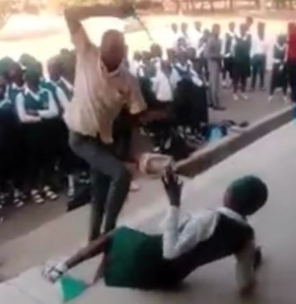 Outrage as students are mercilessly whipped for failing to resume on the day of resumption in Nassarawa (Video)