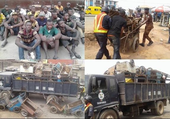 Lagos? State arrests 30 wheel-barrow pushers days after banning their activities?