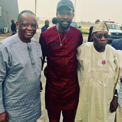 Ex President, Olusegun Obasanjo visits his late wife, Stella Obasanjo