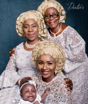 Check out this beautiful four generations photo