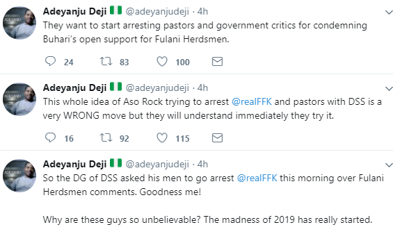 DSS officials reportedly storm FFK