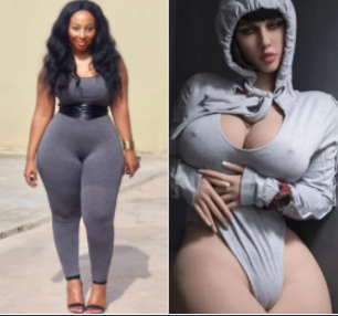 South African lady shares sexy photos to prove she is sexier than the N800k sex doll