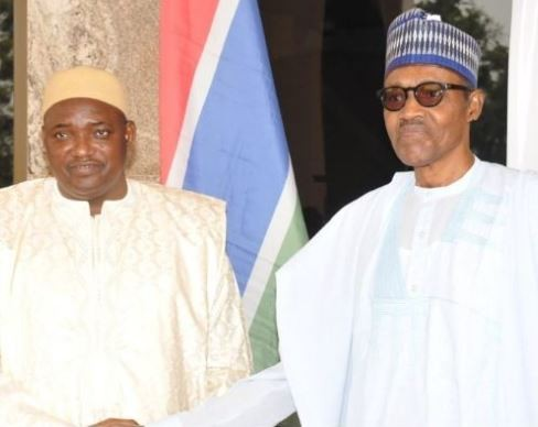 President?Buhari meets Gambia?s Adama Barrow behind closed doors In Aso Rock