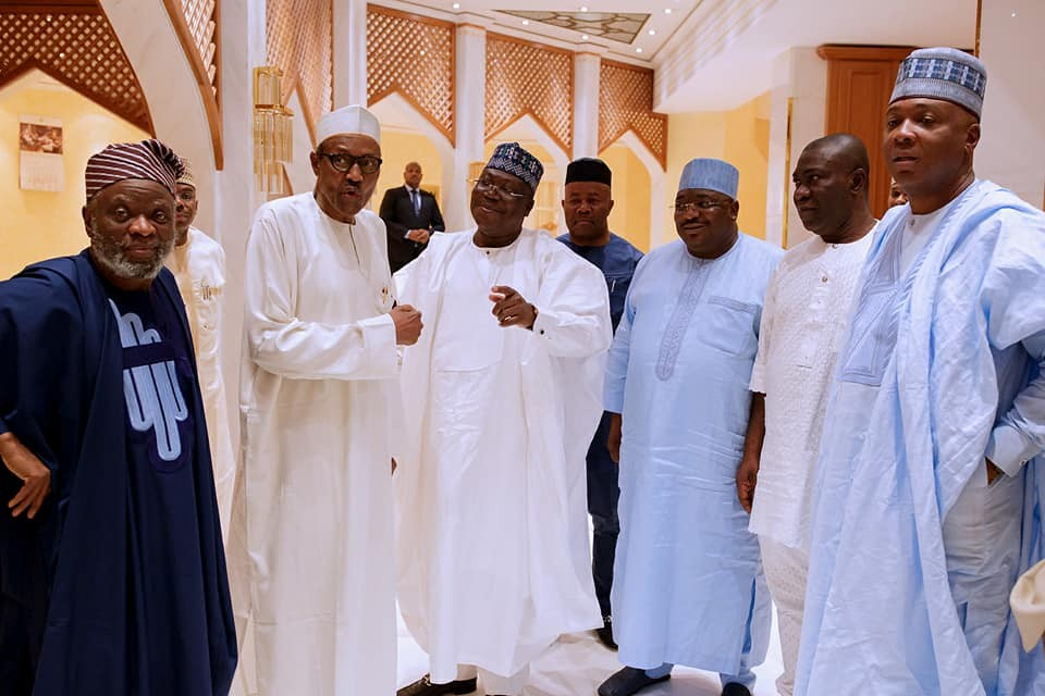 Photos: President Buhari hosts principal officers of the National Assembly at the?State House