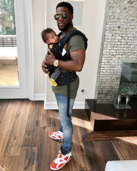 Kevin Hart shares photo with baby Kenzo as he turns 2 months