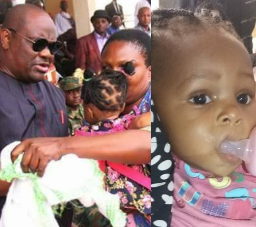 Wike sets aside N50m as education grant for little girl whose parents were killed in the New Year day Omoku attack