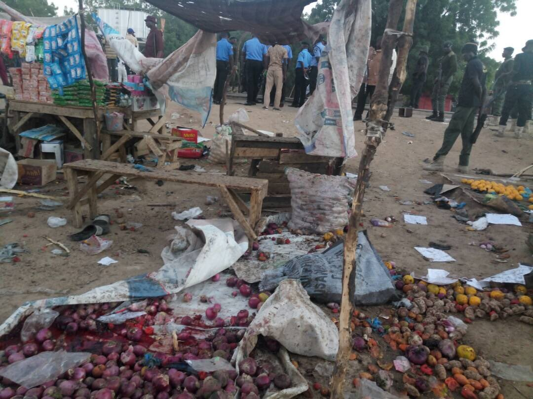 Photos: 12 killed, 50 injured in twin suicide attacks in Borno