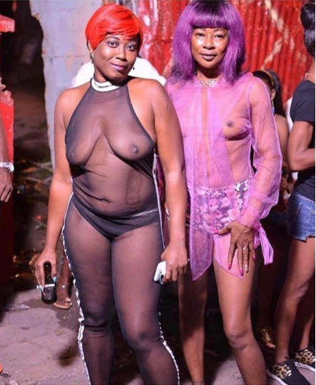 Atlanta strippers show off their bodies in see through outfit (photos)