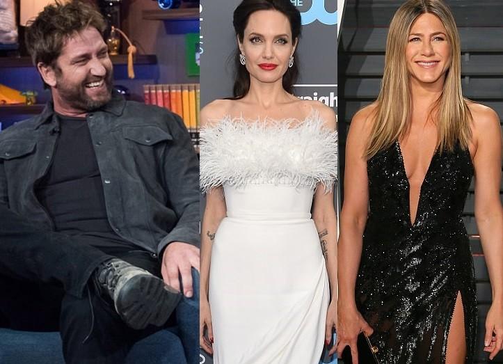 Gerard Butler picks a better kisser between Brad Pitt ex-wives, Angelina Jolie and Jennifer Aniston
